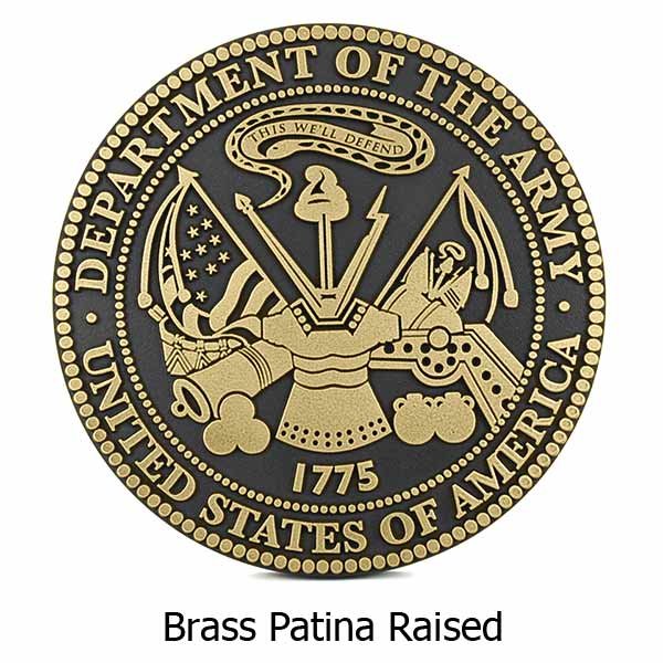 US Army Plaque - Brass