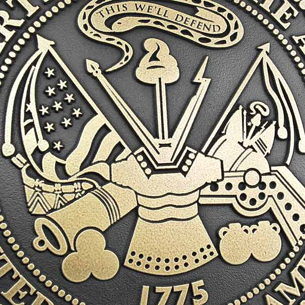 US Army Plaque - Brass Detail