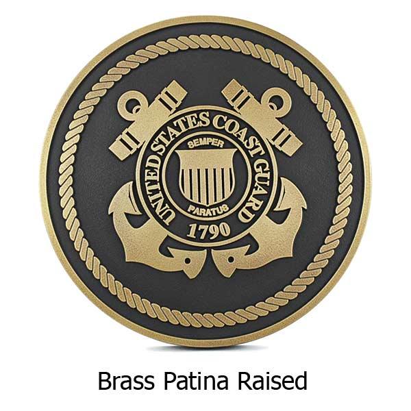US Coast Guard Plaque - Brass