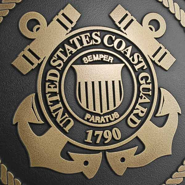 US Coast Guard Plaque - Brass Detail