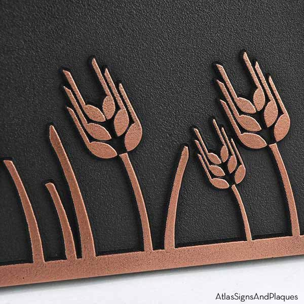 Wheat Field Address Plaque - Copper Detail
