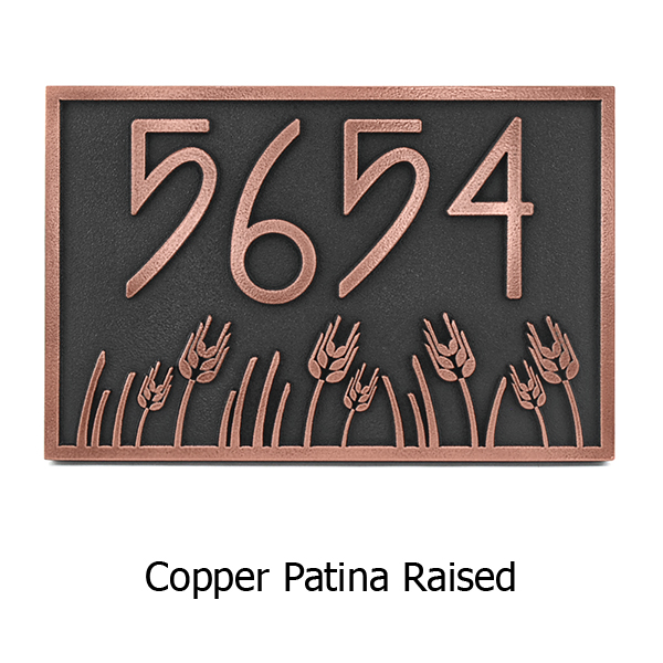 Wheat Field Address Plaque - Copper