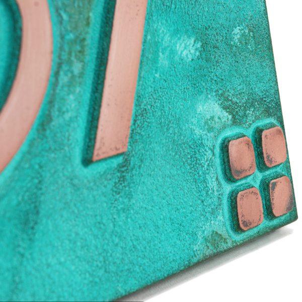 Willow CraftsWillow Craftsman Address Plaque - Bronze Verdi Raised Detail man Address Plaque - Bronze Verdi