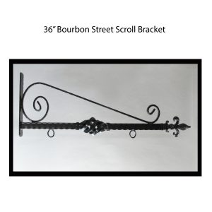 "36"" Bourbon Street Scroll Bracket"