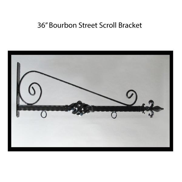 "36"" Bourbon Street Scroll Bracket"
