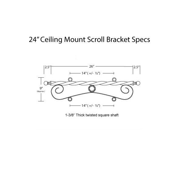Ceiling Mount Scroll 24 Specs