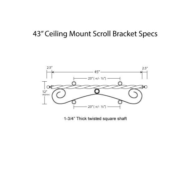 Ceiling Mount Scroll 43 Specs