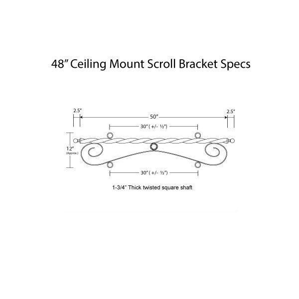 Ceiling Mount Scroll 48 Specs