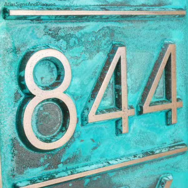 Multiple Advantage Multi-Address Plaque - Bronze Verdi Detail