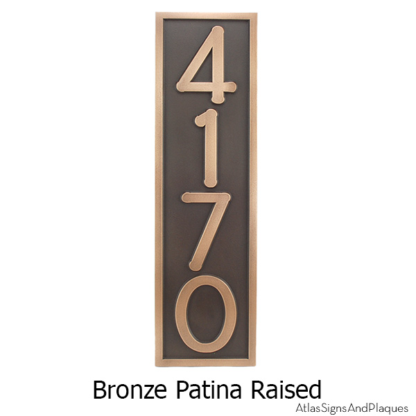 Frank Lloyd Vertical Home Numbers - Bronze