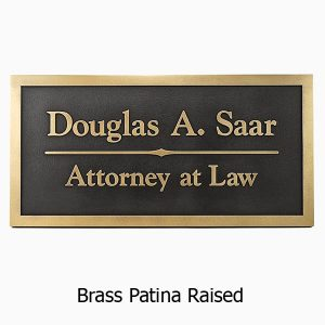 Goudy Business Plaque - Brass
