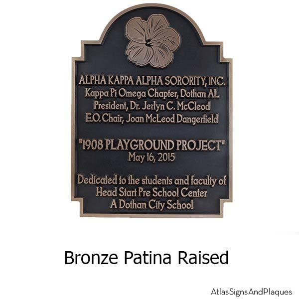 Hawaiian Hibiscus Historic Plaque - Bronze