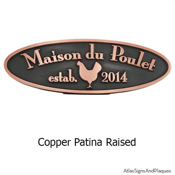 Hen House Plaque - Copper