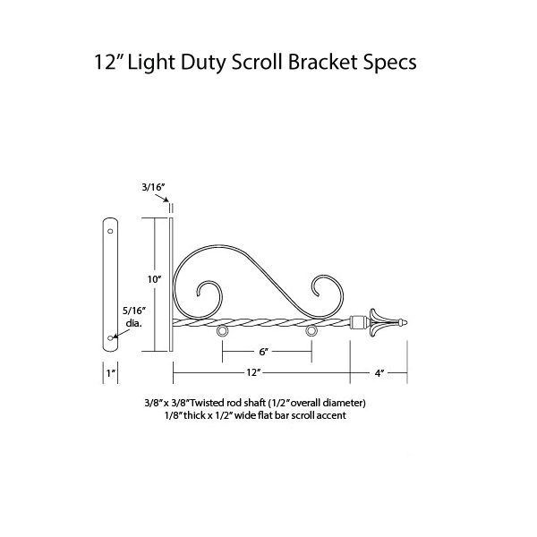 "Light Duty Scroll 12"" Specs"