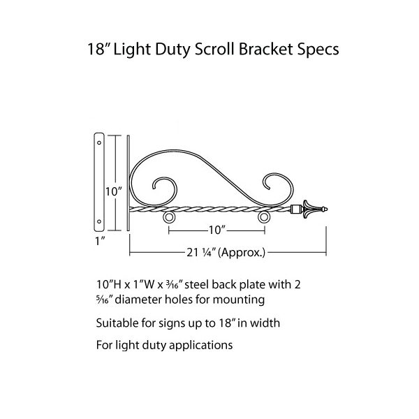 "Light Duty Scroll 18"" Specs"