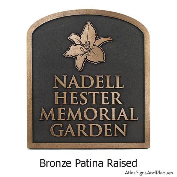Lily Garden Plaque - Bronze