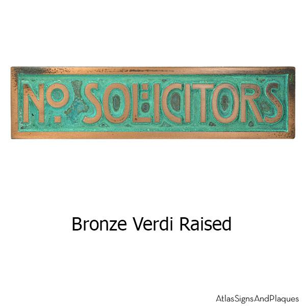 MINI STICKLEY Phrase Plaque - Bronze Verdi