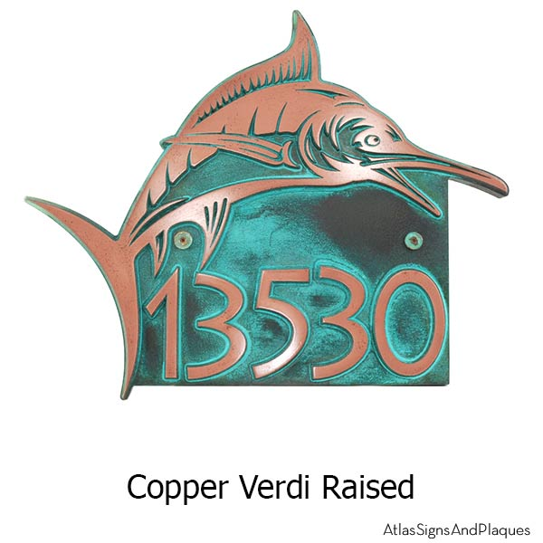 Marlin Home Number - Copper Verdi Shown with Optional T30 Screws