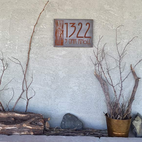 Thanks for the beautiful address plaque! -Maureen 6/2015