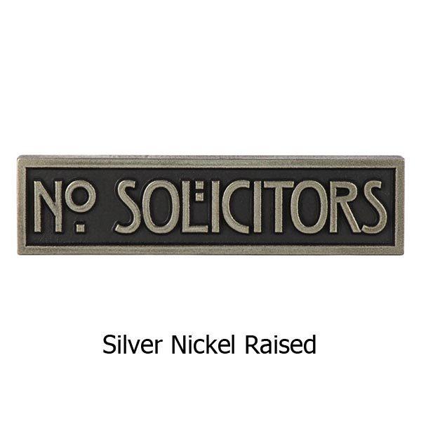 MINI STICKLEY Phrase Plaque - Silver Nickel