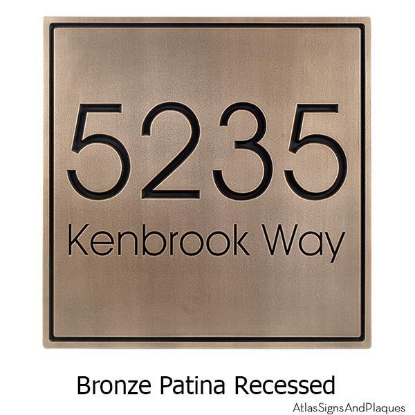 Modern Advantage Address Plaque - Bronze