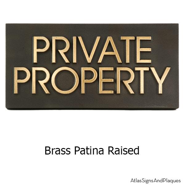 Modern Advantage Private Property - Brass