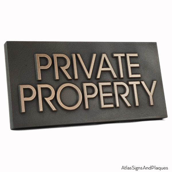 Modern Advantage Private Property - Bronze