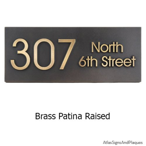Modern Advantage Street Sign - Brass