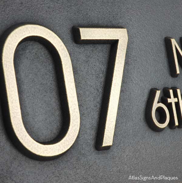 Modern Advantage Street Sign - Brass Detail