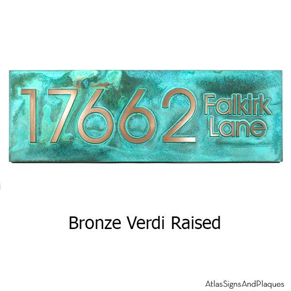 Modern Advantage Street Sign - Bronze Verdi