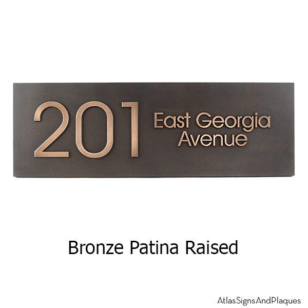 Modern Advantage Street Sign - Bronze