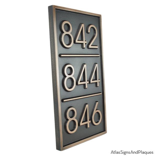 Multiple Advantage Multi-Address Plaque - Bronze