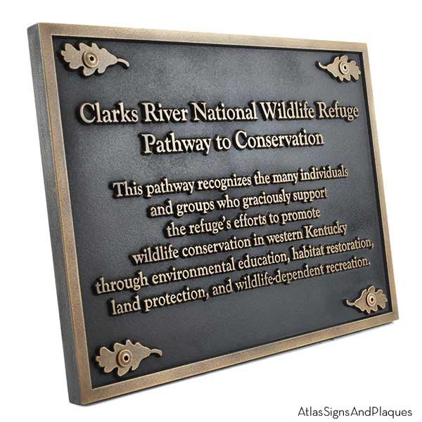Nature Conservancy Plaque - Brass Shown with Optional T30 Screws