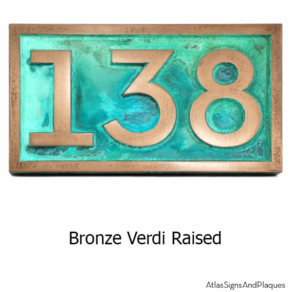 Neutraface Address Plaque - Bronze Verdi