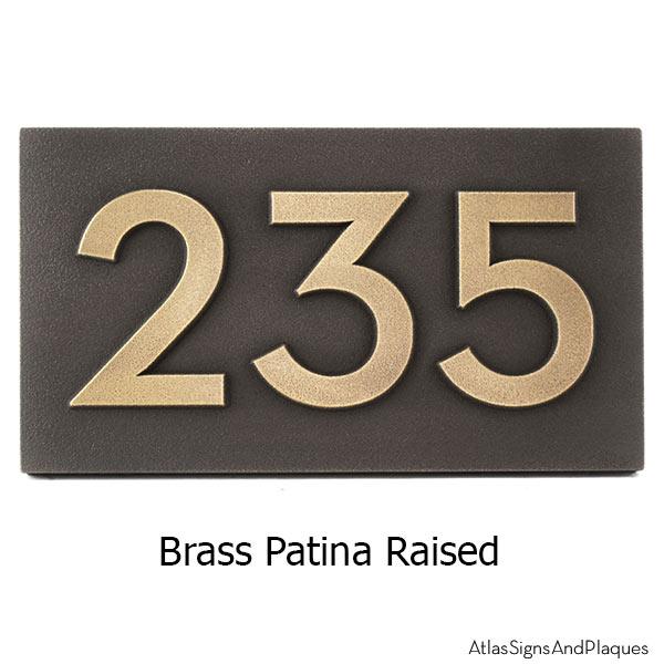 Neutraface Address Plaque - Brass