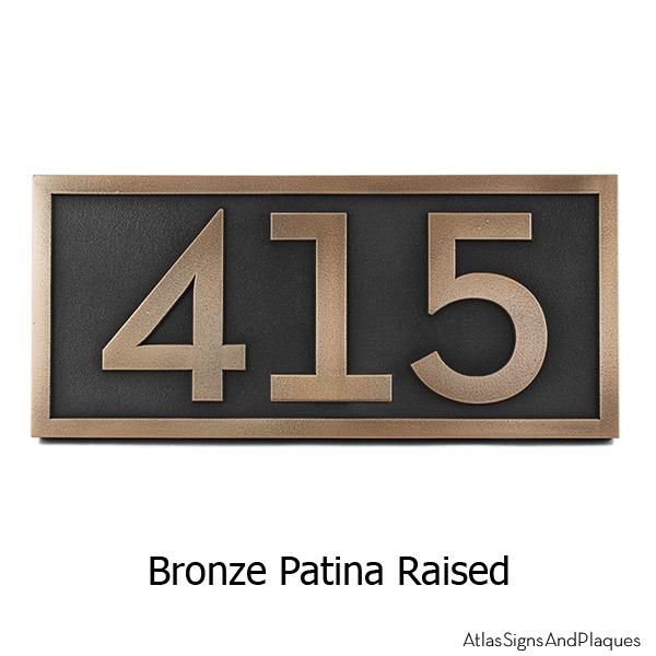 Neutraface Address Plaque - Bronze