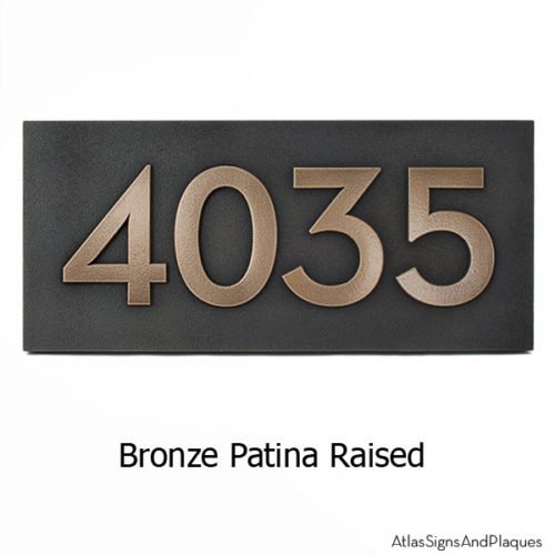 Neutraface Address Plaque - Bronze