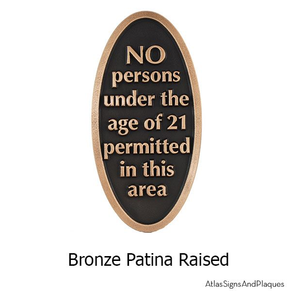 No Drinking Under 21 - Bronze