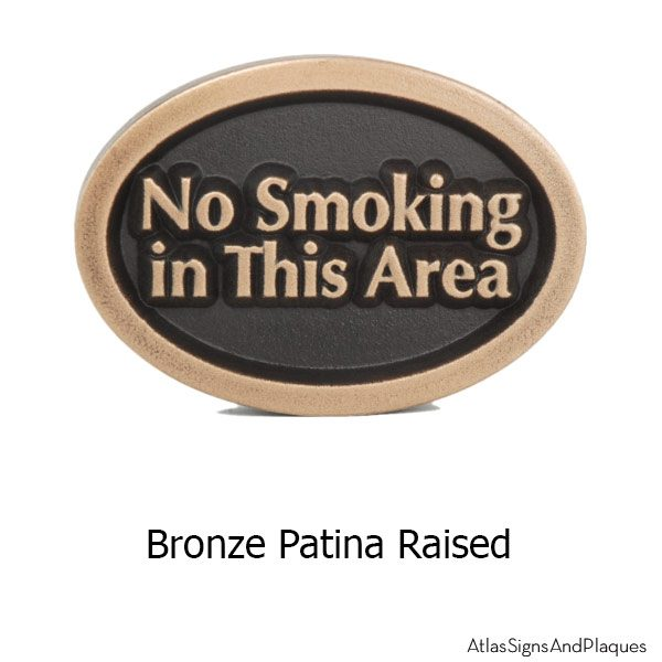 No Smoking Anywhere - Bronze
