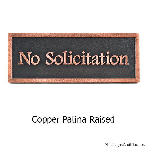 No Solicitation Simple Footlite Font - Copper