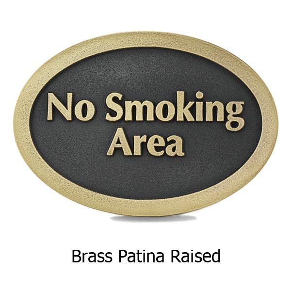 No Smoking Anywhere - Brass