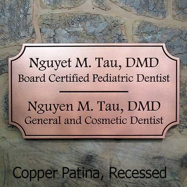 Notched Corner Shape Sign - Copper
