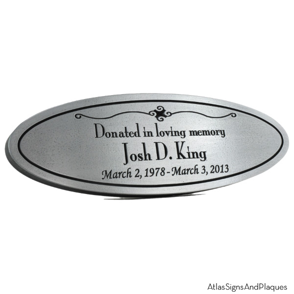 Oval Memorial Plaque - Pewter