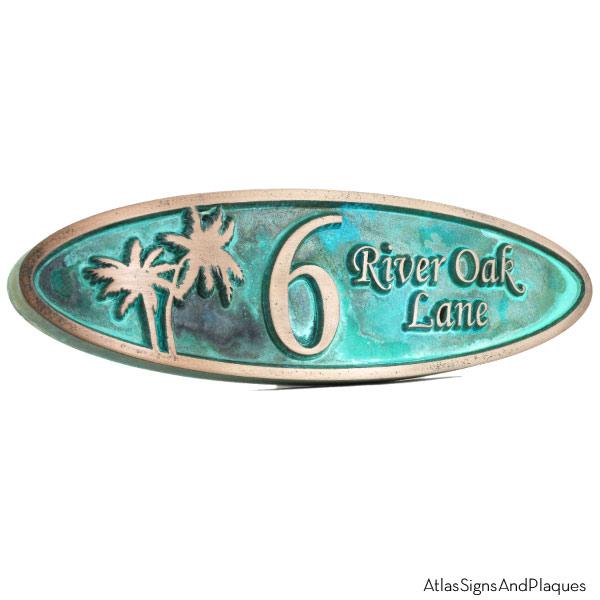 Palm Tree Plaque - Bronze Verdi