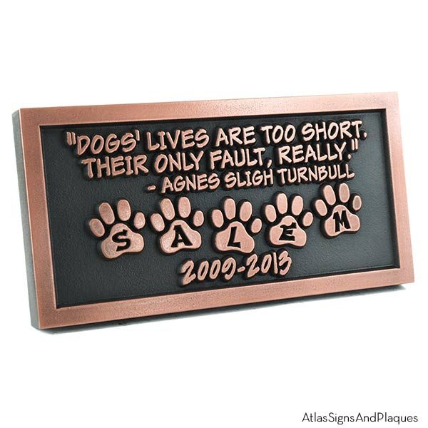 Pet Memorial Plaque - Copper