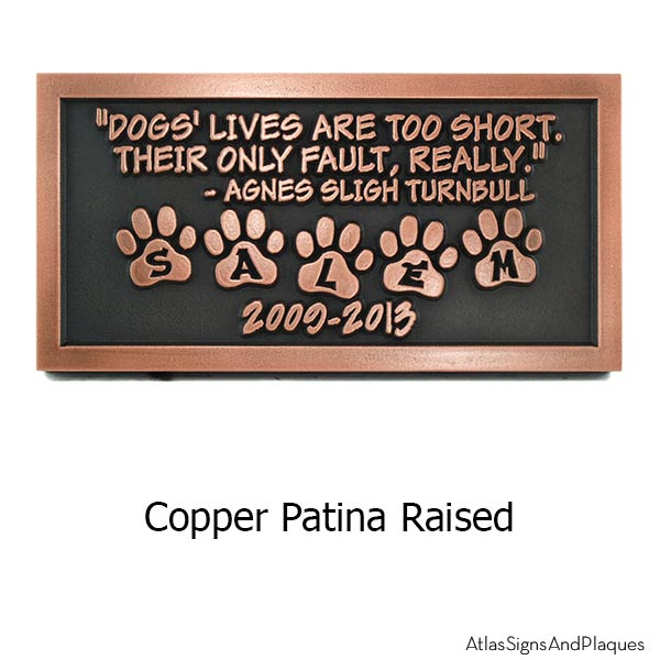Pet Memorial Plaque - Copper