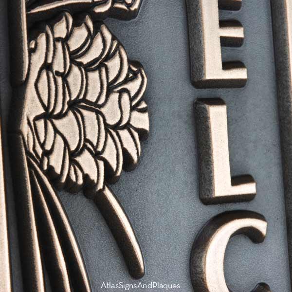 Pine Cone Vertical Plaque - Bronze Detail