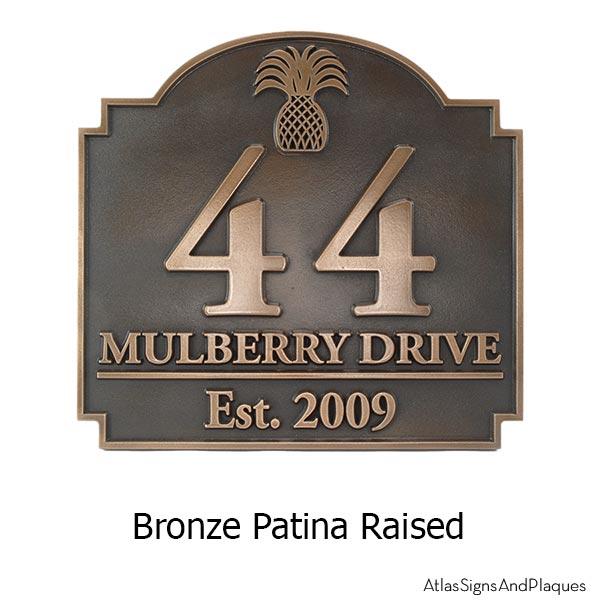 Pineapple Private Drive Sign - Bronze