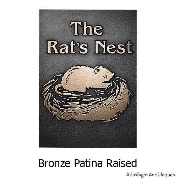 Rats Nest Plaque - Bronze