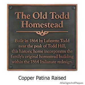 Square Historical Plaque Copper - with Optional T30 Screws